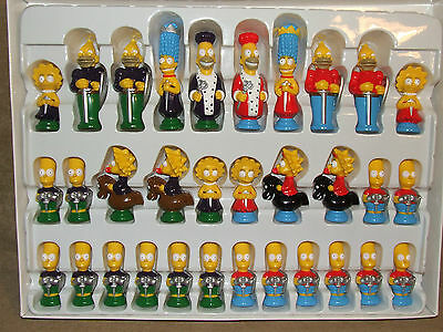 The Simpsons 3D Chess Excellent Condition Boxed And Complete 2007 Age 5+