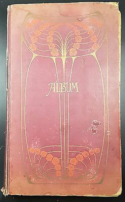 Lovely Family Art Nouveau Album with 200 Postcards, Mostly pre 1930 inc Comic