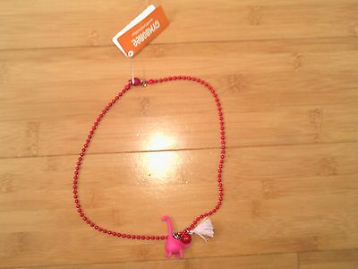 NWT Gymboree Pink Dinosaur Necklace NEW 2T 3T 4T 4 5T 5 6 6X 7 8 10 12