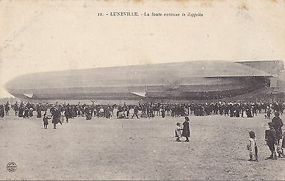Cp166  Aviation Dirigeable Zeppelin  Luneville Meurthe Et Moselle