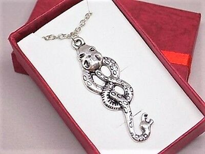 Harry Potter - Voldemort Skull Snake Horcrux Necklace W/Gift Box + Free Shipping