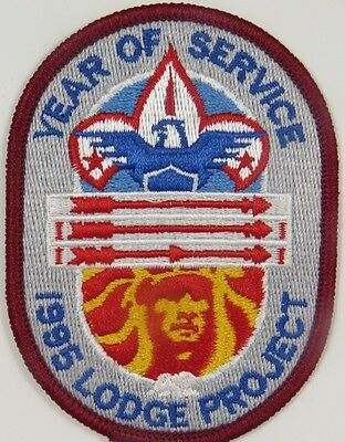 """1995 OA """"Year of Service"""" Lodge Project Patch [S288]"""