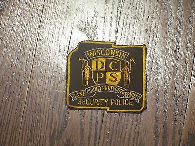 vintage patch,security police ,dane county wisconsin,nos ,70's  set of 8