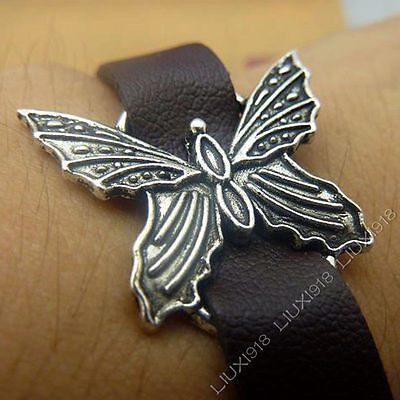 10x Retro Charms Pendant Butterfly Animal Connectors DIY Jewellery Making 571AF