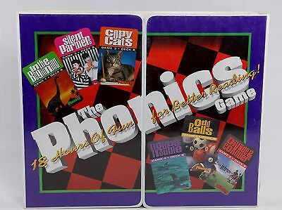 The Phonics Game 18 Hours Of Fun For Better Reading 1996 VHS Tape Cassette Cards