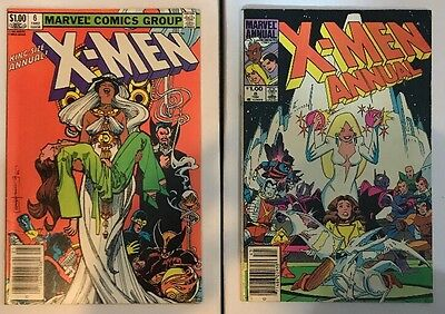 UNCANNY X-MEN Lot of 2 Books: Annual 6 & 8 - Free Shipping