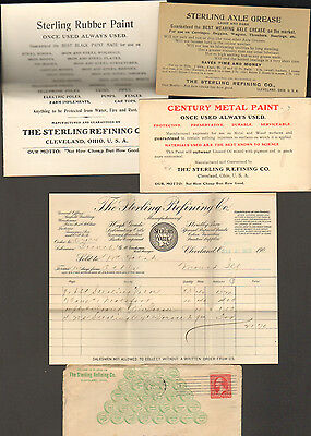 1901 Letterhead And Advertising Cards And Envelopes, Sterling Refining Co.