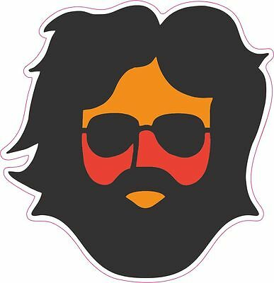 Grateful Dead Jerry Garcia Vinly Sticker Decal 4 inch