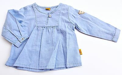Steiff Collection Mädchen Tunika / Bluse 1/1 Arm gr. 56 / 2 Monate chambray blue