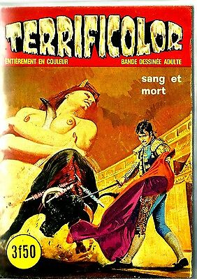 French 1970's Illustrated Erotic Digest Comic Terrificolor #28 Fine