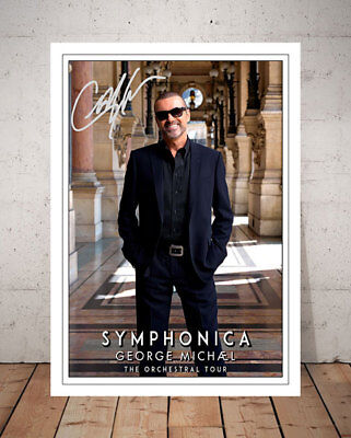 George Michael Symphonica Tour 2011 Autographed Signed Photo Print