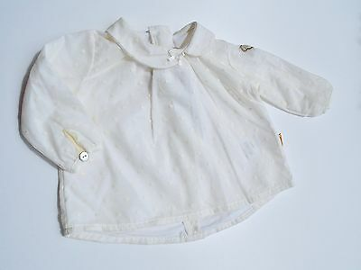 Steiff Collection Girls Bluse  Tunika gr. 56 / 2 Monate special day cloud dancer