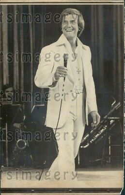 1976 Wire Photo Pop Singer Pat Boone