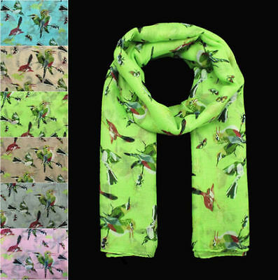 Women Bird Butterfly Animal Printing Soft Large Summer Spring Autumn Wrap Scarf