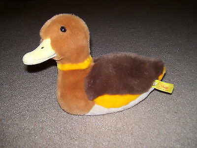 STEIFF Fenny Duck #076008 *Steiff Button w/Ribbon Attached* Made in Germany