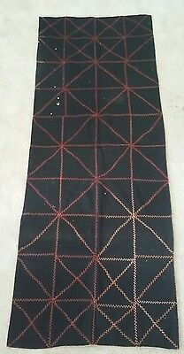 Antique Patchwork Crows Foot Embroidery Stitching Carriage Coach Group Lap Quilt