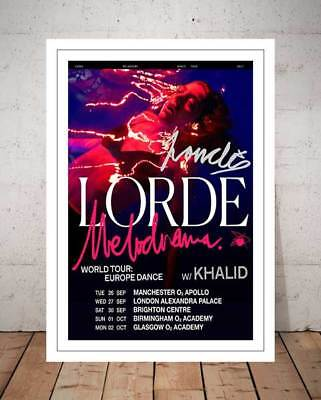 Lorde Melodrama Tour 2017 Concert Flyer Autographed Signed Photo Print