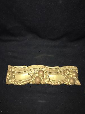 "1930's 13 3/4"" Brass Pediment"