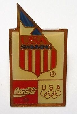 USA Olympic Swimming Pin Coca-Cola