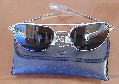 Occhiali da sole AMERICAN OPTICAL FG-58L originali anni 80 VINTAGE