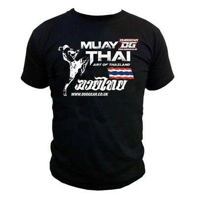 Black 'art' T-Shirt Top For Muay Thai Training And Fighting
