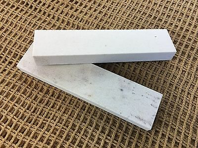 2x Lot Soft Arkansas Wet Stone Knife Sharpener USA Made
