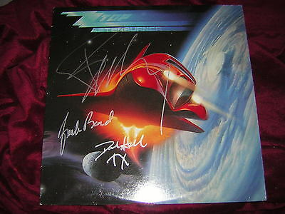 Zz Top Signed Lp Afterburner Billy Gibbons 3 Members