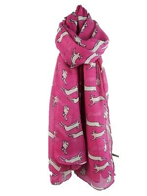 Leaping Hares Rabbits Print Scarf Ladies Womens Fashion  Soft New Wrap 3 Colours
