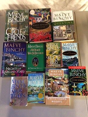 Lot Of 11 Maeve Binchy Books! Hardcover & Paperback Romance Novels