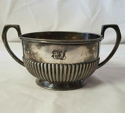 Vintage Silver Plated Monogrammed Bowl F.P.R.M. #2447