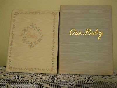 Vintage Baby Memory / Record Books - 2 Unused - Gibson, Delaney - 1952 Must See!