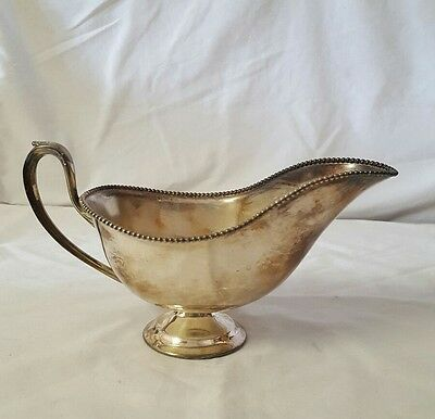Vintage Silver Plated GRAVY BOWL No Markings