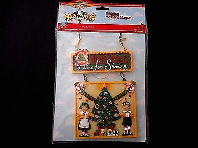 Mary Engelbreit Christmas Hanging Plague New NIP Christmas A Time For Sharing