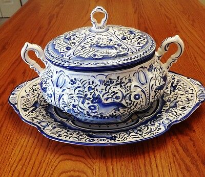 Portuguese Soup Tureen, Hand Painted