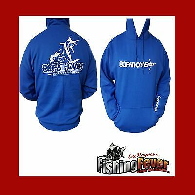 80 Fathoms Hoodie Blue Brand New At Fishing Fever