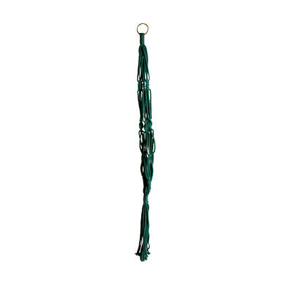 90cm Cotton Rope Plant Hanger Flower Pot Holder Hanging Basket with Iron Ring
