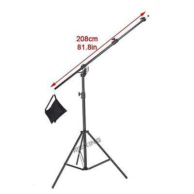 13ft M-2 395cm Multi Function Light Stand & Boom Stand Double Duty with Sand Bag