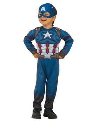 Marvel Avengers Civil War Toddler Boys Captain America Muscle Torso Costume