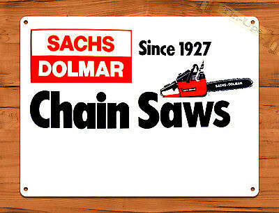 "TIN-UPS TIN SIGN ""Sachs Dolmar"" Chainsaw Vintage Garage Wall Decor Man Cave"