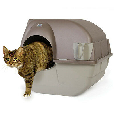 Omega Paw Roll' N Clean Litterbox, Self Cleaning, Easy Maintenance - Medium