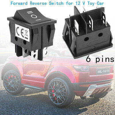 Tyco Plastic Black Power Wheels Forward Reverse Switch for 12 V Toy Car 6 Pins