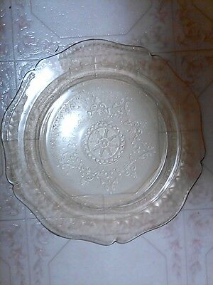 """Vintage Amber Yellow FEDERAL Depression Glass Patrician 11"""" Cake Dinner Plate"""