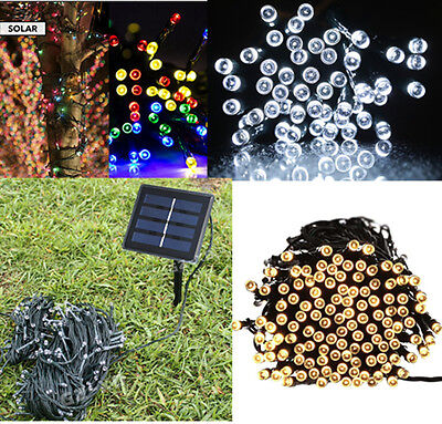 50/100/200/400 LED Solar Power String Fairy Light Christmas Home Outdoor Party