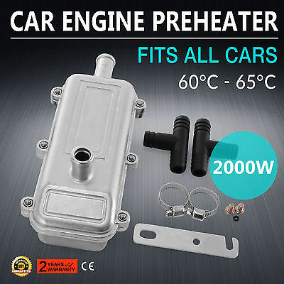 Hard 2KW Engine Coolant Preheater 220V Fits All Cars Connector kit VW