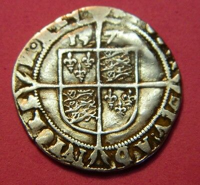 High Grade Tudor Period 1575 Elizabeth 1St Silver Sixpence Rose Beside Bust.