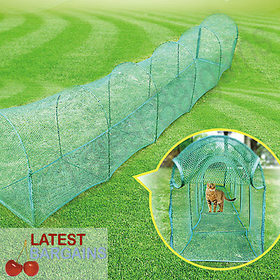 Cat Tunnel Run Pet Play Exercise Deluxe Outdoor Foldable Portable Enclosure