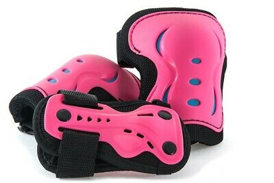 'SFR Essentials Protective 3 Pack - Knee''s Elbow and Wrist Guards - Pink / Blue