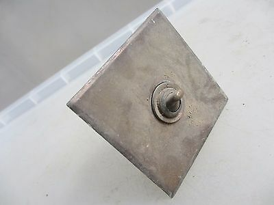Vintage Brass & Iron Light Switch Art Deco Antique Old Iron Industrial Factory