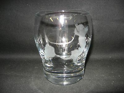 New Etched Australian Terrier Old-Fashioned Rocks Glass Tumbler
