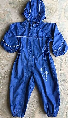 Regatta 18-24 Months Blue Waterproof All In One Puddle Suit Boy Girl